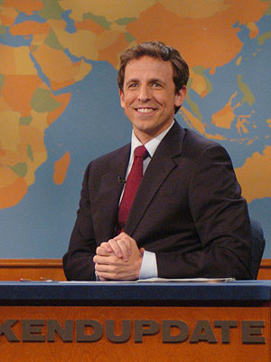 Seth Meyers, Saturday Night Live   Like Tina Fey, the current Weekend Update host is also the SNL head writer and was principally responsible for Fey's Sarah Palin sketches during the…