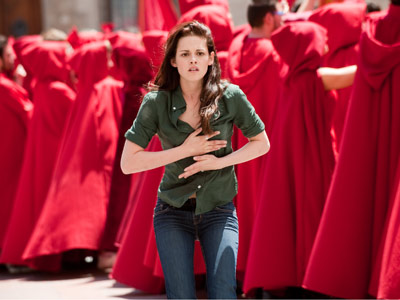 Kristen Stewart, The Twilight Saga: New Moon | Bella flies to Italy to stop Edward from revealing himself as a vampire. No one said to wear red...