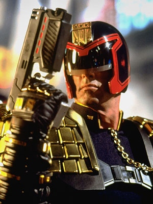 Judge Dredd, Sylvester Stallone | The name alone is enough to inspire dread in us. Sylvester Stallone plays an indefatigable cop prowling the ''Cursed Earth,'' where cities are violent and…