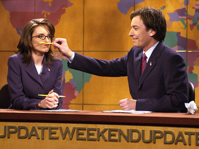 Tina Fey, Jimmy Fallon, ...   A little rocky at the beginning — Fey was SNL 's head writer before stepping in front of the camera, and Fallon had a gift…