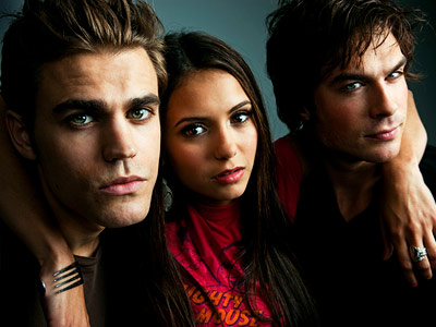 Ian Somerhalder, Paul Wesley | PAUL WESLEY, NINA DOBREV, AND IAN SOMERHALDER, The Vampire Diaries