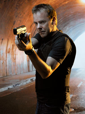 24, Kiefer Sutherland | TYPICAL DAY ON THE JOB: Defusing scary bombs; interviewing terrorist suspects ''the hard way'' WEAPON OF CHOICE: Bare hands (for his patented Jack Bauer sleeper…