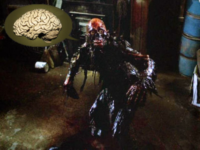 The Return of the Living Dead | B IS FOR BRAINS While your average zombie will happily nosh on arms, legs, or intestines (be they upper or lower), 1985's Return of the…