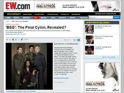Editorial Photo Gallery sponsorship 1 of 2: SyFy/BSG ?The Final Cylon, Revealed?