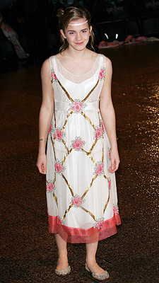 Emma Watson | LONDON, NOV. 2005 The floral dress is age-appropriate and cute, but are those — gasp — flats?!