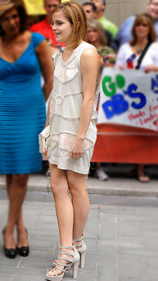 Emma Watson | EVENT: NBC's Today Show DESIGNER: 3.1 Phillip Lim Watson appeared fresh in this neutral ensemble, accented by striking Giuseppe Zanotti heels. B