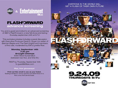 To generate buzz for the premiere of ABC's FlashForward, EW hosted advanced screenings of the first episode in LA and NY.