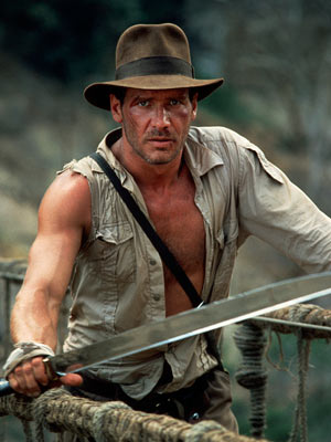 Indiana Jones and the Temple of Doom, Harrison Ford | WHY HIM: Thanks to Steven Spielberg's rollicking direction and Harrison Ford's rough charm, the brainy, brawling Indy is an old-fashioned champion of good who takes…