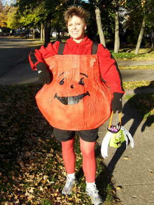 Randi Johnson Hanson from Madison, WI ''I have always loved Kool-Aid man and just wanted to shout 'OH YEAH!' at all the kids trick-or-treating!''
