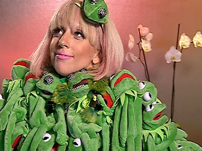 The world's collective suspicion that Lady Gaga had descended from Janice the Muppet changed from ''likely'' to ''probable'' after she showed up for a German…