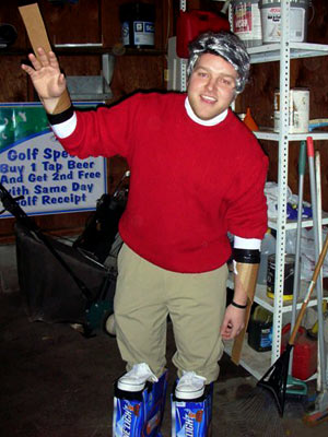 Dave Carroll from Minneapolis ''Inspired by reality TV's favorite, Keystone Light-drinking, little dad: Matt Roloff.''