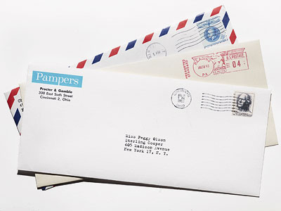 Mad Men | ''I'll take any old mail you'll wanna give me,'' says Wells. ''I'm desperate for it. Any old mail with old stamps on it is like,…