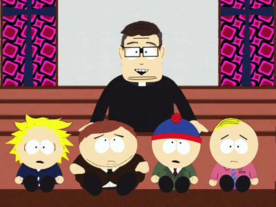 South Park | What type of God does the Catholic Church worship? In South Park 's world, a giant, intergalactic, spider-shaped God, apparently. Parker and Stone tackled Catholic…