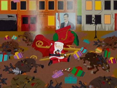 South Park | A parody of films like Three Kings and Black Hawk Down , this episode found Santa Claus in the middle of Iraq, where he is…