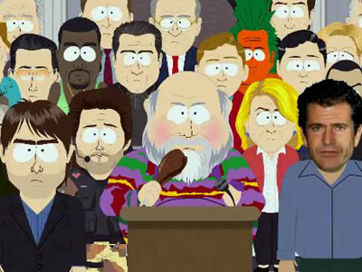 South Park | Trey Parker and Matt Stone celebrated South Park 's 200th episode with some old friends: Tom Cruise, Mel Gibson, a giant mechanical Barbra Streisand, and,…