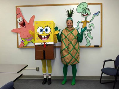 SpongeBob Squarepants, SpongeBob Squarepants | Melissa Dudek and Juli Fulks from Portland ''The costume came about after we finished 'a close second' in the costume contest at work (Lewis &…