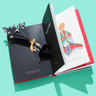 The Little Prince | THE LITTLE PRINCE deluxe pop-up book Antoine de Saint-Exupéry's much-loved 1943 existential fairy tale, about an airplane pilot who crash-lands in the desert and meets…