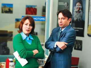 Chris Kattan, The Middle, ... | Wheeling and Dealing: Patricia Heaton and Chris Kattan are used-car salespeople