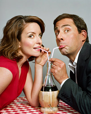 Steve Carell, Tina Fey | TINA FEY on how STEVE CARELL makes her laugh: ''I'm very verbal, but Steve has a real nuance with the non-verbal reaction. One of my…