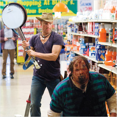 Woody Harrelson, Zombieland | W IS FOR WOODY HARRELSON We all remember his cold-blooded shooting spree in Natural Born Killers , and now we're never going to forget seeing…