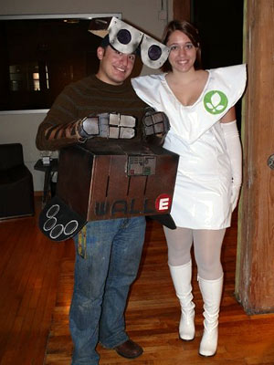 WALL-E | Russell and Jacey Elizabeth Berg from Minneapolis ''We both love Pixar movies and were wearing our costumes at an office Halloween celebration.'' Facebook users: Become…