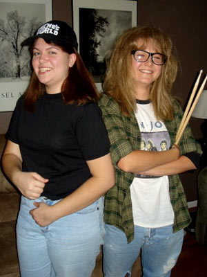 Wayne's World | Brooke Wylie and Ashley Hanf from Littleton, CO ''Dressing up as Wayne and Garth actually started as a joke; Ashley made the suggestion in passing,…