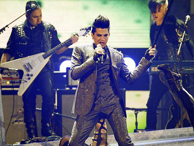 Adam Lambert | ADAM LAMBERT ? In his much-anticipated first televised post- Idol performance, Glambert fully nails the rock wail, but holy crotch-thrust, what is up with all…