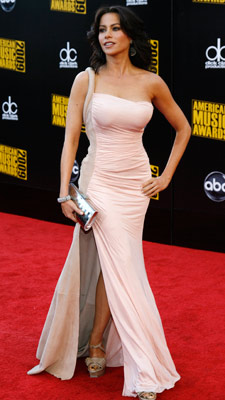 Sofia Vergara | We're not sure what the Modern Family star was doing at the American Music Awards, but she certainly looked stunning doing it. Grade: A-