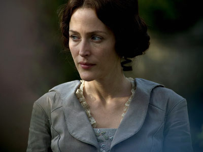 Bleak House, Gillian Anderson | Gillian Anderson, carrying herself like an ornate, decrepit angel, drops the temperature 20 degrees each time she appears on screen in this Dickens adaptation. As…