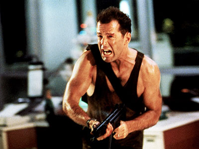 Die Hard, Bruce Willis | Die Hard (1988) John McClane is my hero. ''Come out to the coast?. We'll get together?have a few laughs.'' That is exactly what I hope…