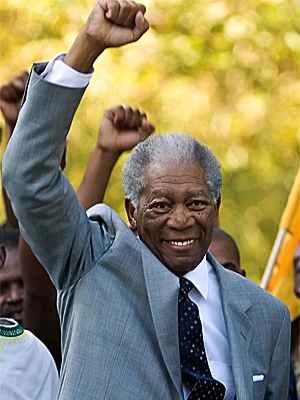Invictus, Morgan Freeman | Morgan Freeman Invictus Portraying Nelson Mandela could help the past Supporting Actor winner score his third recognition in this category. Other possibilities Jeff Bridges, Crazy…