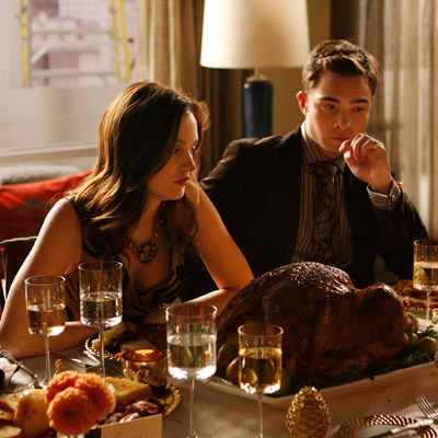 Gossip Girl, Ed Westwick | Gossip Girl (Monday, Nov. 30) It's Thanksgiving GG -style, so expect things to be a little different than a traditional turkey dinner. In lieu of…