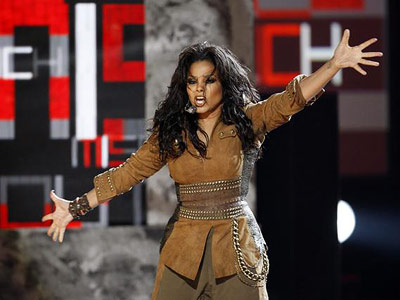 Janet Jackson | JANET JACKSON ? Janet, in a fawn-colored suede get-up we can only describe as Sexy Daniel Boone, opened the show with a fast-moving medley of…