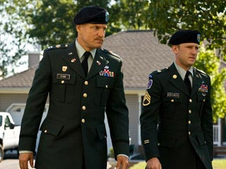 Ben Foster, Woody Harrelson, ... | SOLDIERING ON Woody Harrelson and Ben Foster are the bearers of very bad news in The Messenger