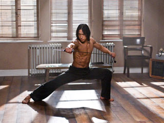 Ninja Assassin | HE'S GOING TO DO SOMETHING, AND YOU KNOW IT'S GOING TO BE GOOD Rain stretches before exercising in Ninja Assassin