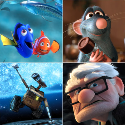 Up, WALL-E, ... | Pixar takes the Entertainer of the Decade title hands down. The company's creativity over the last decade is unmatched. From Up to Wall·E to Cars…