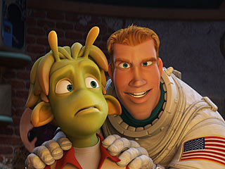 Planet 51 | FIRST CONTACT An earthman makes friends with the locals on Planet 51
