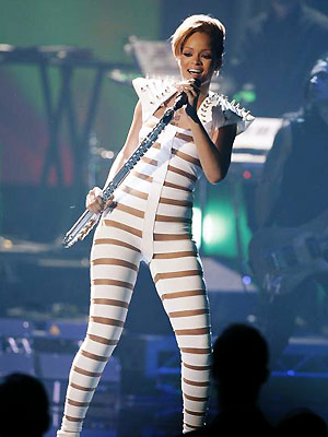 Rihanna | RIHANNA ? What's braver than wearing a horizontally bandaged jumpsuit in HD? A pop superstar taking on two of the rock-iest cuts from her new…