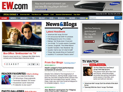 Samsung executed a first-ever custom homepage takeover on EW.com, promoting its Blu-ray 3600 Player.