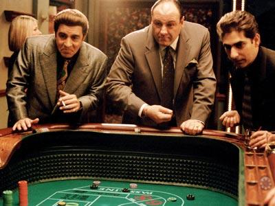The Sopranos, James Gandolfini   I'm finally going to finish watching The Sopranos (currently on season 4). — Kacey