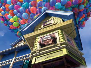 Up | BALLOON BOY Ed Asner gets a lift as Up 's grumpy hero