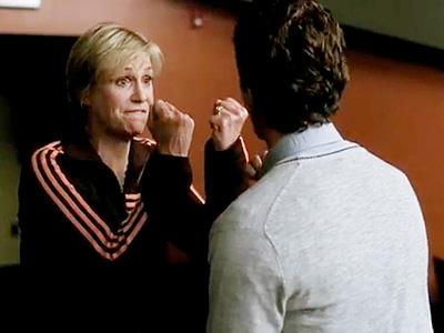 Glee, Jane Lynch | ''Look at me. Even in the heat of battle, I'm so elegant, regal. I am Ajax, mighty Greek warrior.''