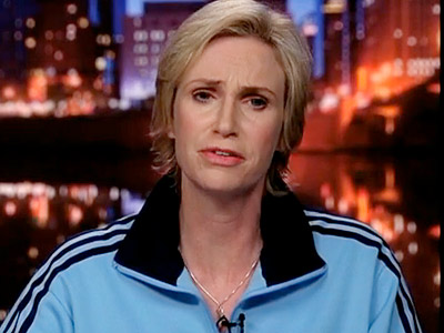 Glee, Jane Lynch | ''I, for one, think intimacy has no place in a marriage. Walked in on my parents once, and it was like seeing two walruses wrestling.''