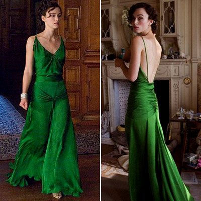 Keira Knightley, Atonement | Keira Knightley in Atonement (2007) Maybe it was the brilliant color, or the beautiful draping, or its role in the steamiest library scene ever committed…