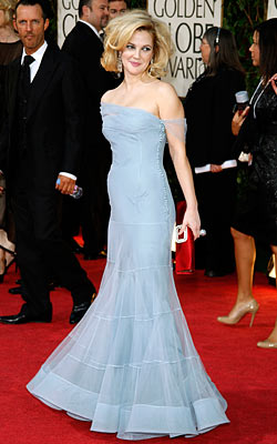Drew Barrymore   The pale blue Dior dress that Drew Barrymore wore to the Golden Globes this year. Her hair was a mess, but oh that dress! —…