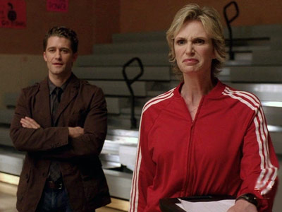 Glee, Jane Lynch, ... | ''I thought I smelled cookies wafting from the ovens of the little elves that live in your hair.''