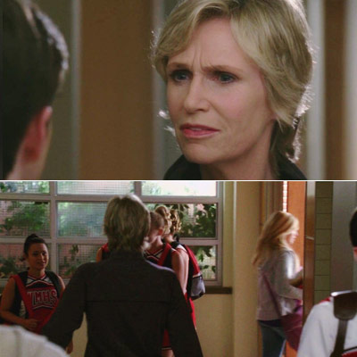 Glee, Jane Lynch | ''I'm gonna make it a habit to not stop and talk to students because this has been a colossal waste of my time.''