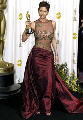 Halle Berry | Halle Berry at the Oscars (2002) Berry's tearful acceptance speech would become an Oscar classic — as would her strategically appliquéd gown by the previously…