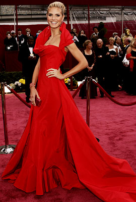 Heidi Klum | HEIDI KLUM (Academy Awards '08) Does Heidi ever get it wrong? Not in my opinion. I especially loved her in this exuberant gown by John…