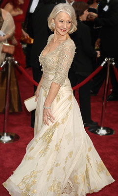 Oscars 2007, Helen Mirren | HELEN MIRREN (Academy Awards '07) Helen Mirren in this sparkling gold gown by Christian Lacroix was, hands down, the most gorgeous, sophisticated — and sexy…